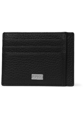 HUGO BOSS - Crosstown Full-Grain Leather Cardholder - Men - Black