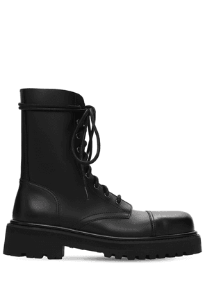 Lace-up Leather Military Boots