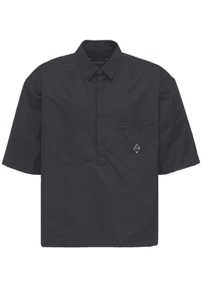 Metal Logo Cotton Polo Shirt
