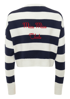 Striped Wool Knit Sweater