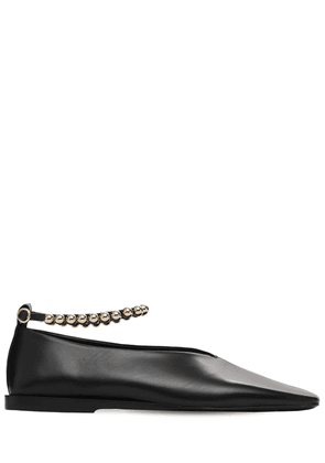 10mm Metal Ankle Leather Ballerinas