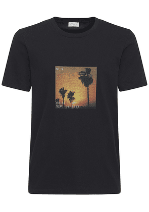 Sl Sunset Vhs Print Cotton T-shirt