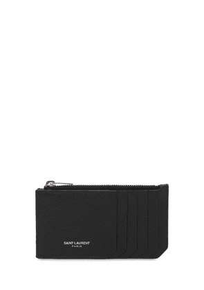Leather Zip Card Holder