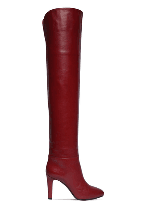 90mm Jane Leather Over-the-knee Boots