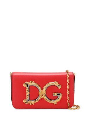 Dg Girls Small Barocco Leather  Bag