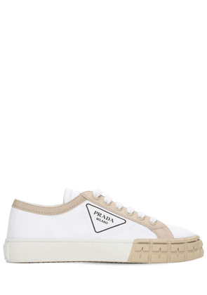 30mm Cotton Canvas Low Top Sneakers
