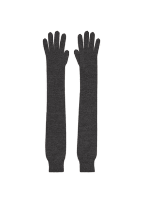 The Row Grey Cashmere and Silk Besede Gloves