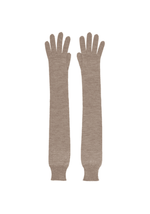 The Row Taupe Cashmere and Silk Besede Gloves