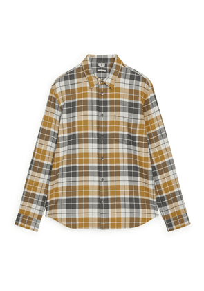 Shirt 13 Checked Flannel - Yellow