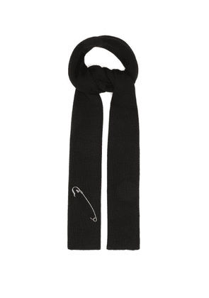 Givenchy - Safety-pin Wool Scarf - Mens - Black