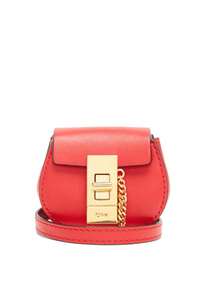 Chloé - Drew Mini Leather Belt Bag - Womens - Red