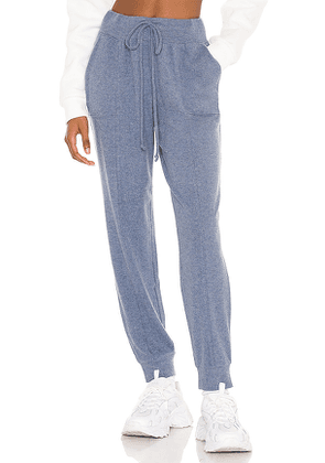 1. STATE Cozy Knit Jogger in Blue. Size M, S, XS, XXS.