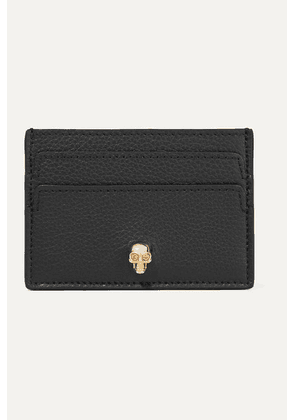 Alexander McQueen - Embellished Textured-leather Cardholder - Black