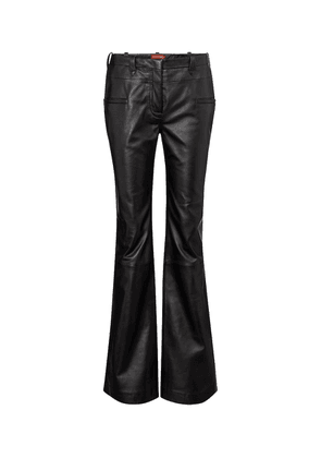 Serge mid-rise flared leather pants
