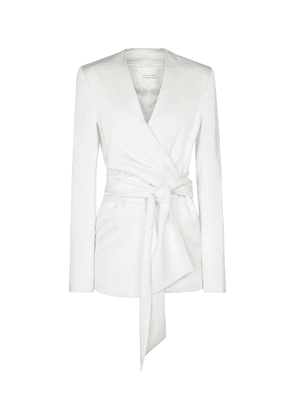 Greenwich crêpe bridal wrap jacket