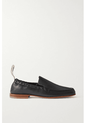 Loewe - Logo-detailed Leather Collapsible-heel Loafers - Black