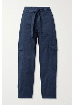Alex Mill - Expedition Belted Washed Stretch-cotton Slim-leg Pants - Navy