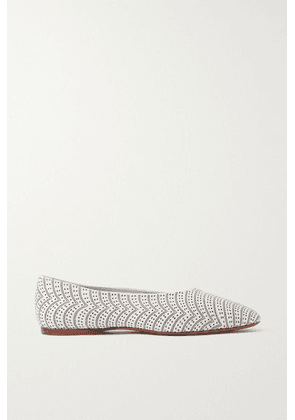 Alaïa - Laser-cut Leather Ballet Flats - White