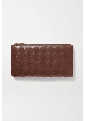 Bottega Veneta - Intrecciato Leather Continental Wallet - Brown