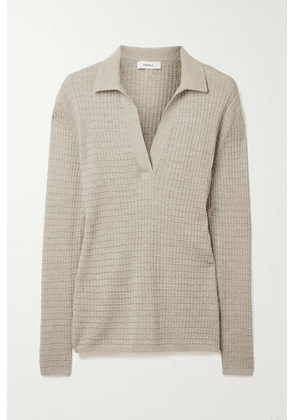 CASASOLA - Alvina Waffle-knit Cashmere And Silk-blend Sweater - Beige