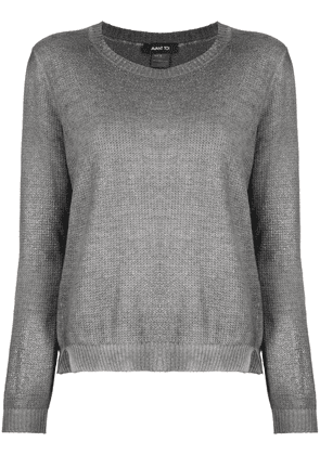 Avant Toi long-sleeved ribbed knit cashmere top - Grey