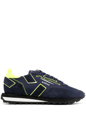 Ghoud geometric panel sneakers - Blue