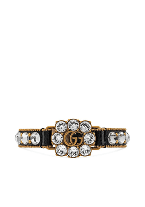 Gucci Double G crystal-embellished bracelet - Black