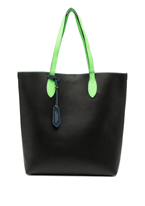 Burberry neon-handle leather tote bag - Black