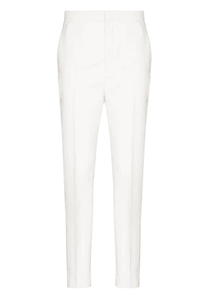 Saint Laurent slim-fit wool trousers - White