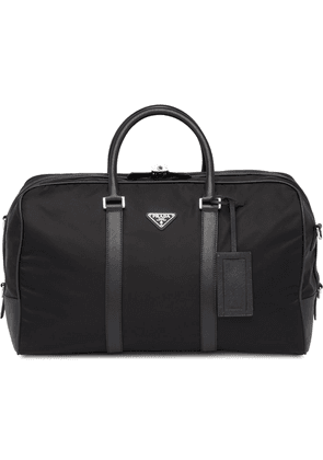 Prada Saffiano leather trim duffle bag - Black