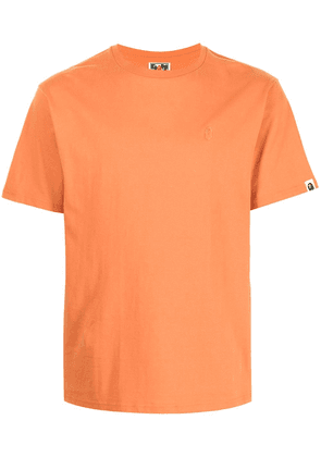 A BATHING APE® embroidered-logo cotton T-Shirt - ORANGE