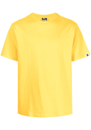 A BATHING APE® embroidered-logo cotton T-Shirt - Yellow
