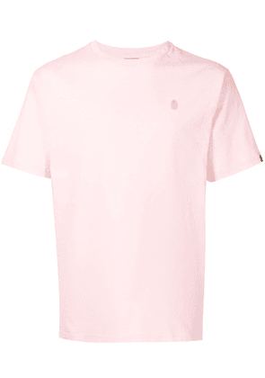 A BATHING APE® embroidered-logo cotton T-Shirt - PINK