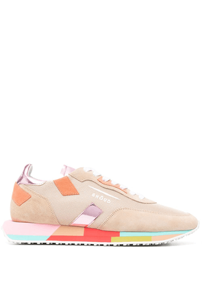 Ghoud colour-block lace-up trainers - Neutrals