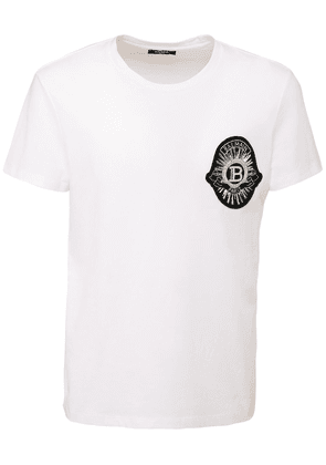 Jersey T-shirt W/ Embroidered Patch