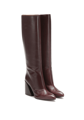 Wave leather boots