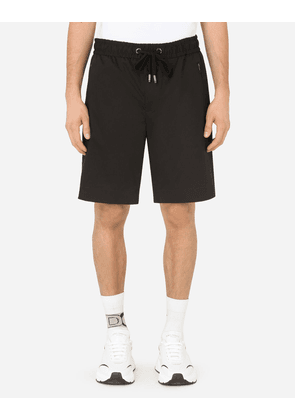 Dolce & Gabbana Trousers and Shorts - STRETCH COTTON JOGGING SHORTS BLACK male 44