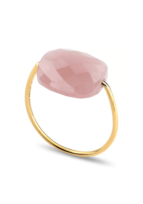 Morganne Bello Yg Cushion Pink Guava Quartz(size 52) Ring