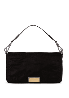 Dolce & Gabbana logo plaque shoulder bag - Black