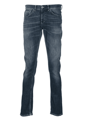 Dondup whiskered straight-fit jeans - Blue
