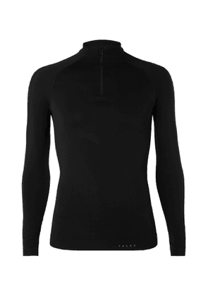 FALKE Ergonomic Sport System - Warm Stretch-Jersey Half-Zip Top - Men - Black