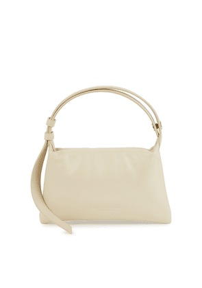 Simon Miller Puffin Mini Ivory Leather Top Handle Bag