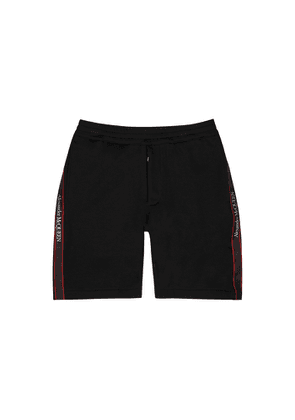 Alexander McQueen Black Logo-trimmed Cotton Shorts