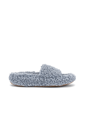 Jeffrey Campbell Goodnight Slipper in Slate,Blue. Size 6, 7, 7.5, 8, 8.5, 9.