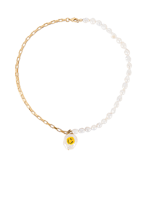 joolz by Martha Calvo All Smiles Necklace in Metallic Gold.