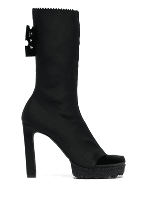 Off-White high-heeled mid-calf boots - Black