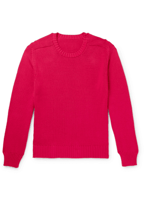 Anderson & Sheppard - Slim-Fit Cotton Sweater - Men - Red