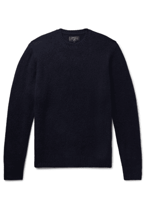 BEAMS PLUS - Cashmere and Silk-Blend Sweater - Men - Blue