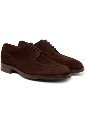 Edward Green - Dover Textured-Leather Derby Shoes - Men - Brown