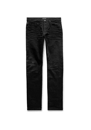 TOM FORD - Slim-Fit Selvedge Denim Jeans - Men - Black